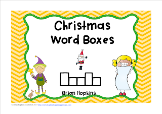 FREEBIE Christmas Word Boxes