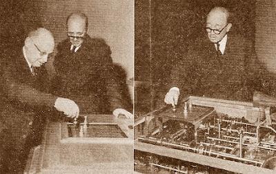 Tartakower y Torres Quevedo, con la máquina del ajedrez