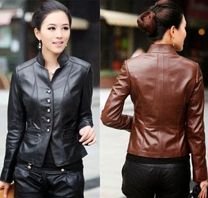 Gambar Woman Leather Jacket
