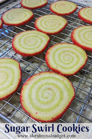 Looking for a pretty recipe so you can use your stand mixer? Try these sugar swirl cookies from www.abrideonabudget.com.