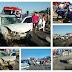 Colisão entre carro e Caçamba deixa taxista ferido na BR-230 em Cajazeiras nessa terça