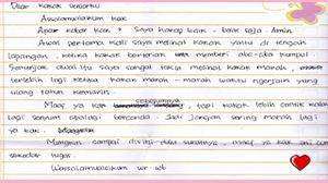Surat cinta untuk kakak kelas