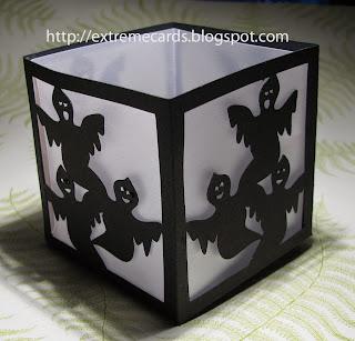 votice tea light ghost lantern