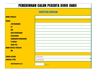 Aplikasi PPDB Format Excel