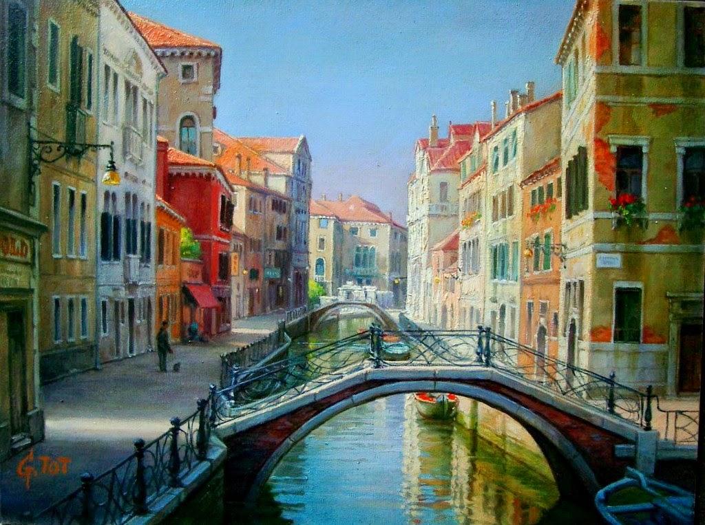Imágenes Arte Pinturas: Paisajes Urbanos Pintados Al Óleo