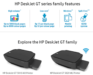 HP DeskJet GT Series Family Features