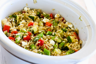 Kalyn's Kitchen®: Slow Cooker Brown Rice Veggie Bowl with Asparagus ...