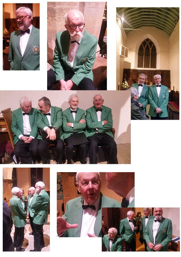 Swinglo takes his camera to Upper Denby church and finds the men in relaxing mood