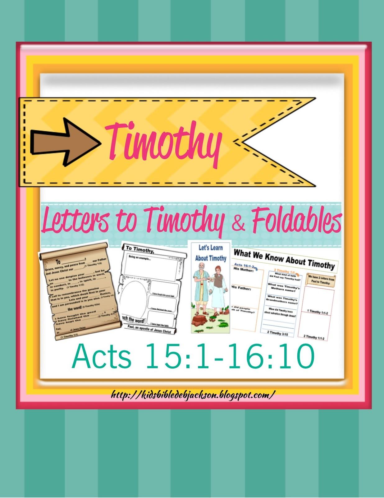 Bible Fun For Kids Timothy