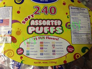 Red Bird Brand Assorted Puffs