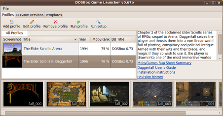 Bastich OS: DBGL - Easy to Use DosBox Frontend