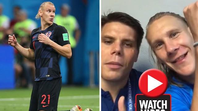 Domagoj Vida dan Ognjen Vukojevic dalam video mereka