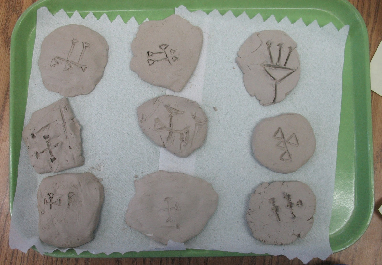 Cuneiform writing activity for students