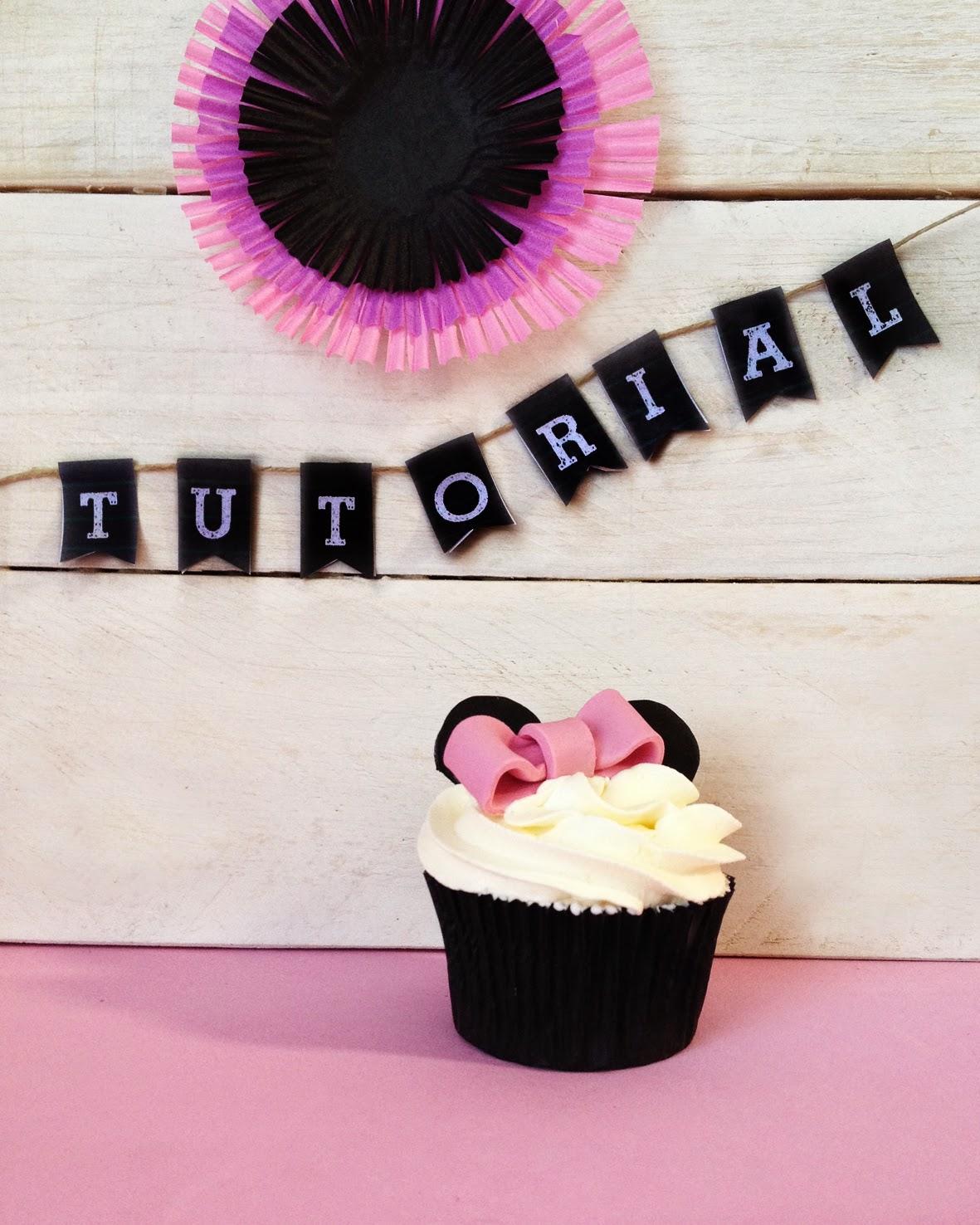 Tutorial Decorar Una Cupcake Al Estilo Minnie Mouse Tendulzo