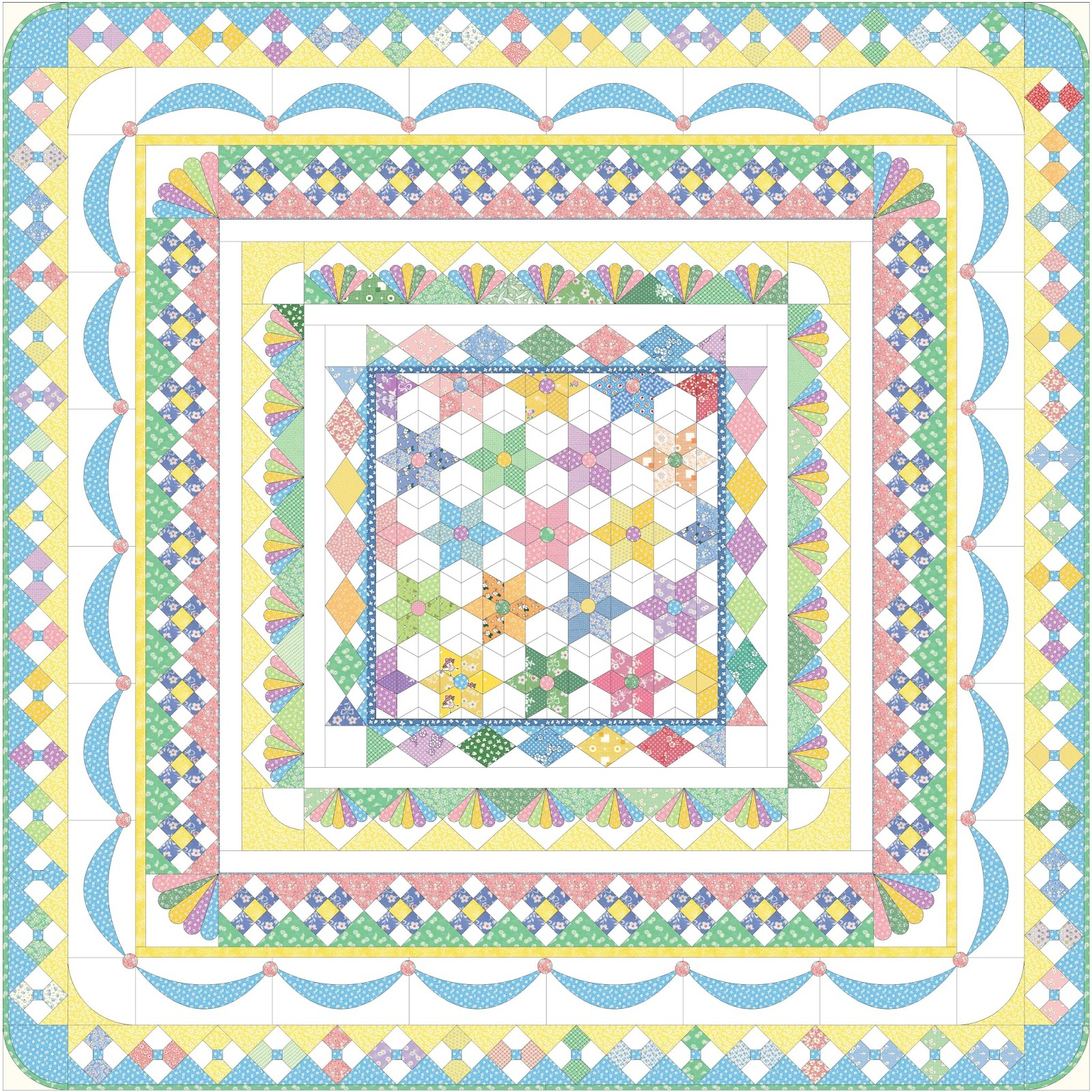 wonder can medallion the quilt work did as ve fairyface how found quilts look i butterfly was out basting going designs to