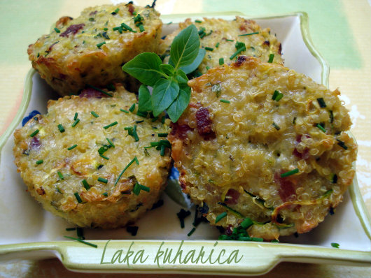 Mini frittatas with quinoa by Laka kuharica: savory bites equally excellent hot or cold.