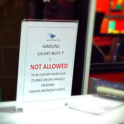 Larangan Garuda Indonesia untuk Membawa Samsung Galaxy Note 7 Masuk ke Dalam Pesawat