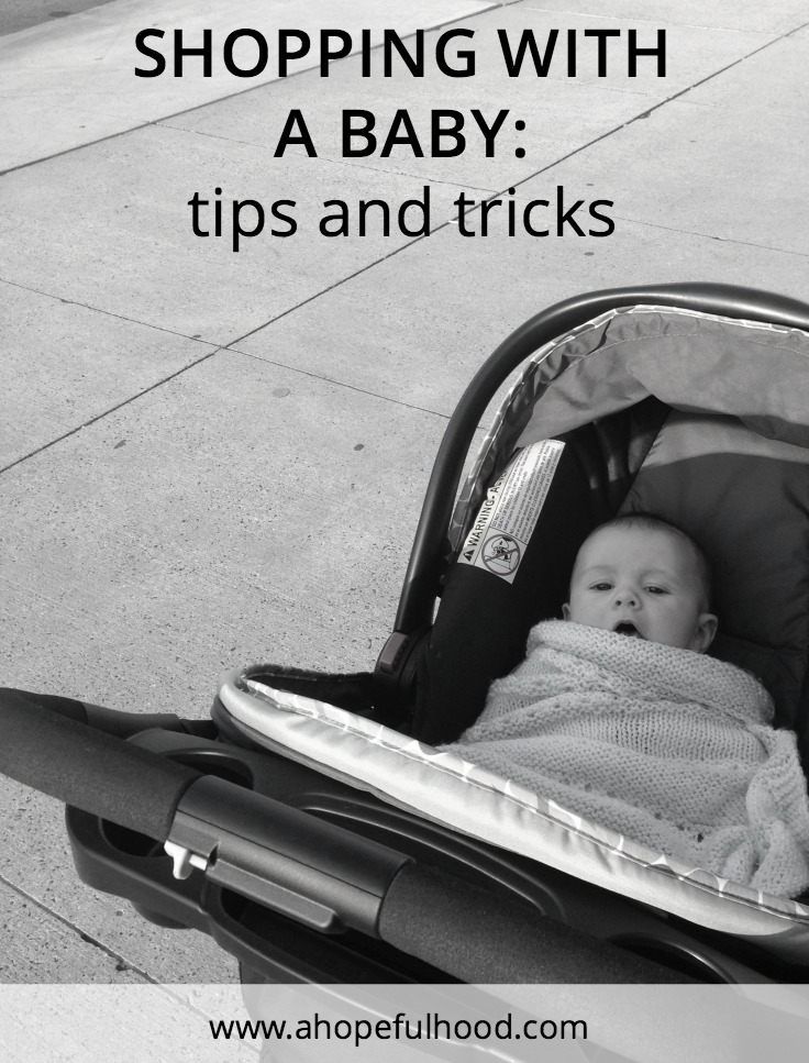 Tips for how to make shopping with a baby easy, including saving time and money with online coupons!