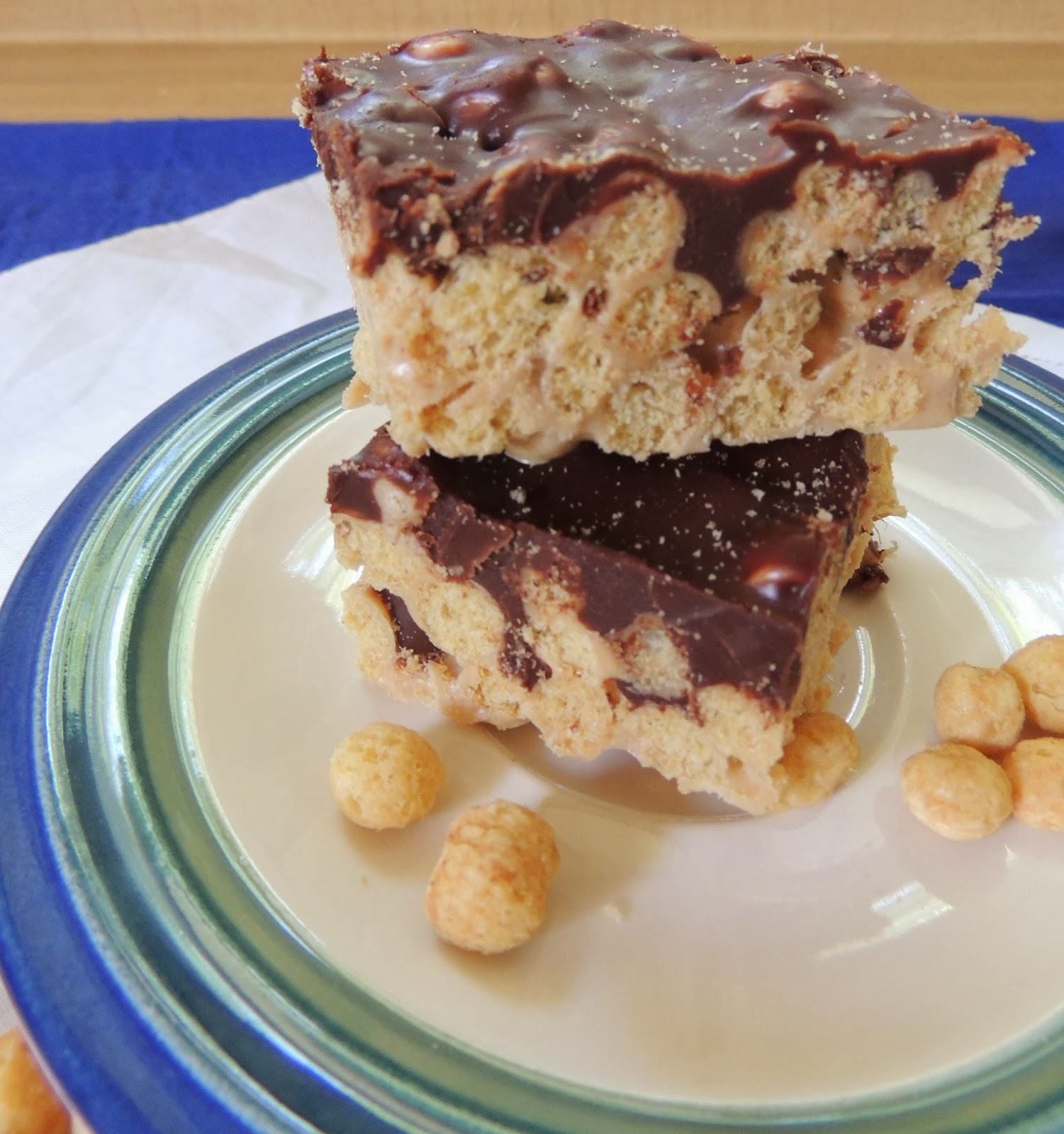 Chocolate Peanut Butter Crunch Bars