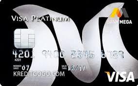 Design Kartu Kredit Bank Mega Visa Platinum