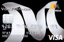 Syarat dan Biaya Kartu Kredit Bank Mega Visa Platinum
