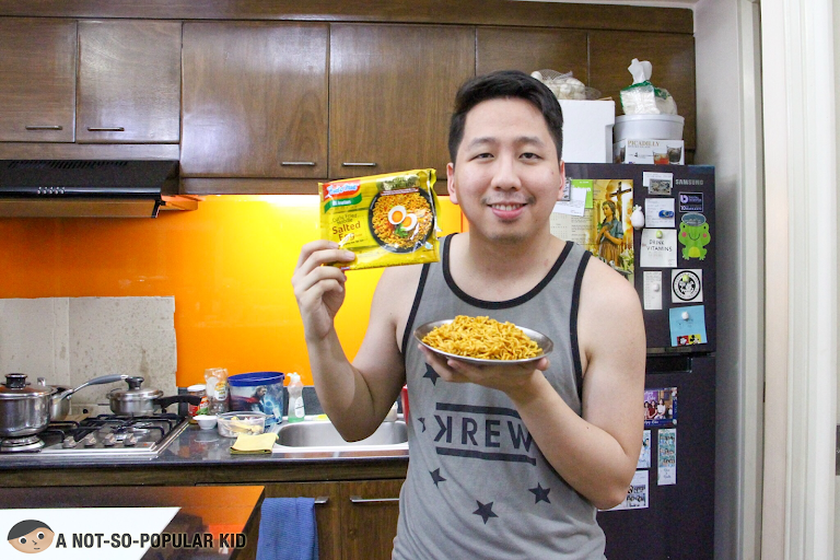 Renz Cheng and Indo Mie noodles