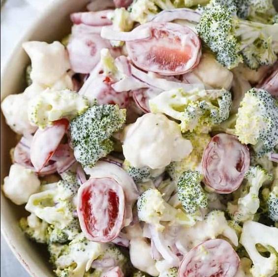 Christmas Salad #vegetarian #partyrecipe
