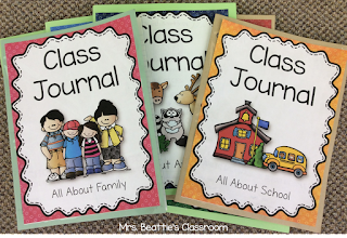 Image of class journals