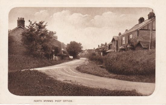 scan of 1930s postcard showing Post Office in Holloways Lane Image from the Peter Miller Collection