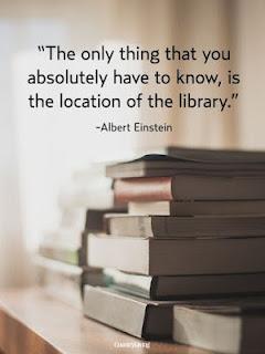 Cita de Albert Einstein sobre las bibliotecas