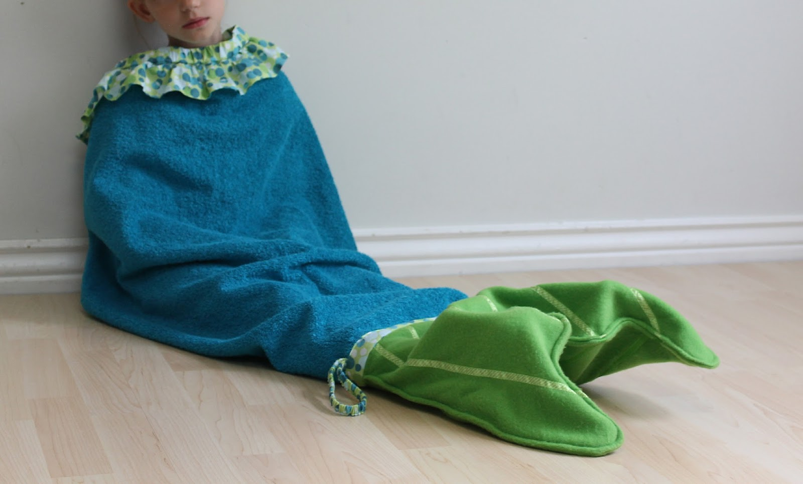 how to make a mermaid tail beach towel
