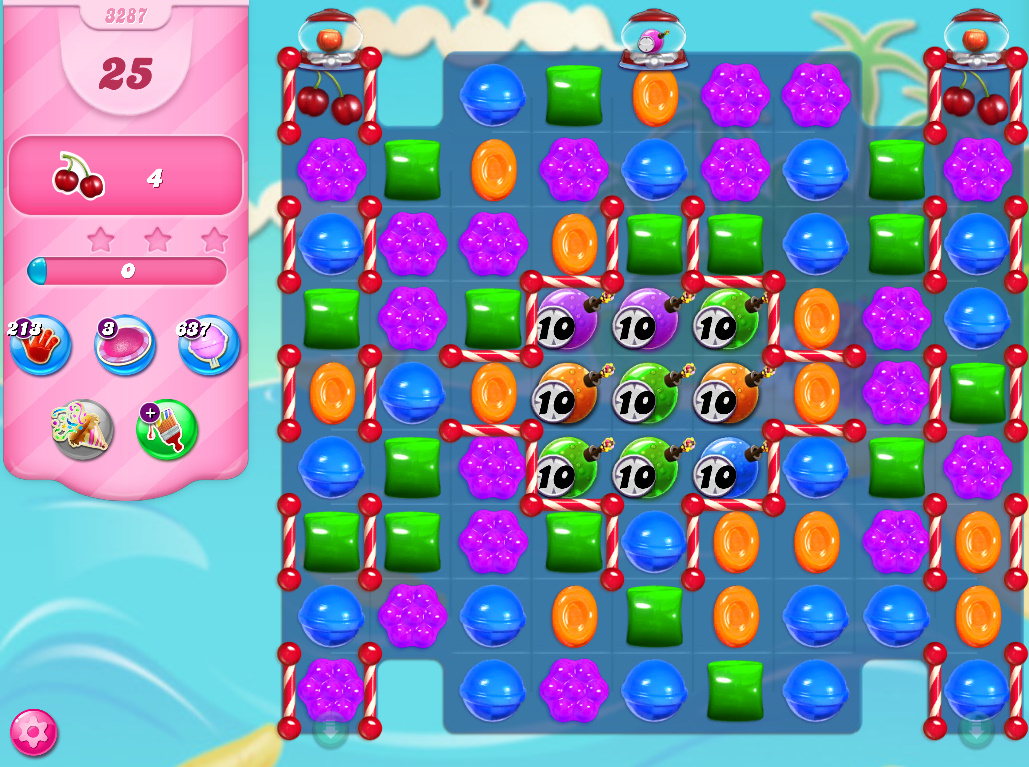 Candy Crush Saga level 3287