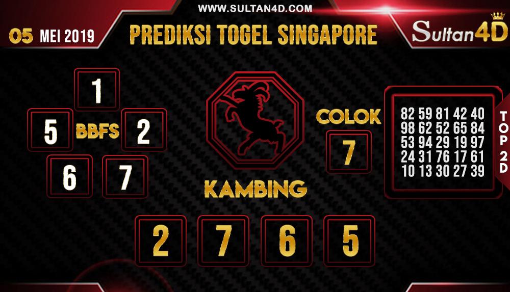 PREDIKSI TOGEL SINGAPORE SULTAN4D 05 MEI 2019