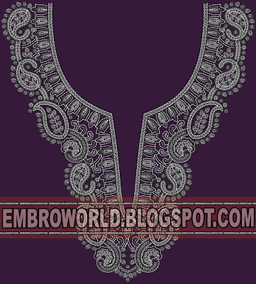 Indo-western sequins neck for fashionable girls