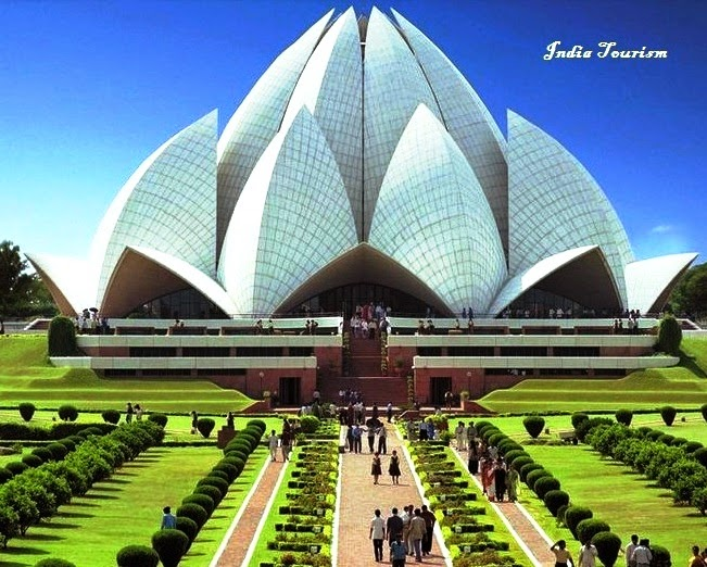Bahai Lotus Temple, a Tourist Place in India