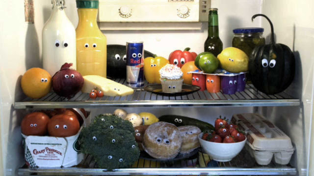 Eyebombing, stick googly eyes on things. Food in the fridge with little eyes.