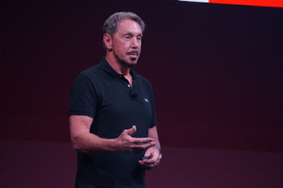 Oracle CTO Larry Ellison speaks at the company's OpenWorld conference in San Francisco on October