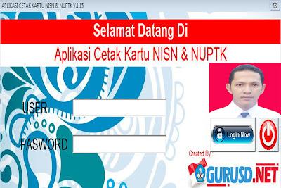 Aplikasi Cetak kartu NUPTK dan NISN Terbaru Referensi Sekolah Kita