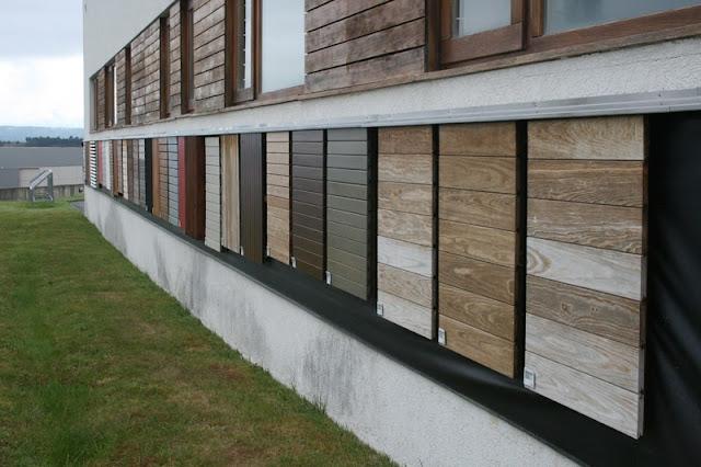 Revestimientos de madera en exterior espacios en madera for Listones madera exterior