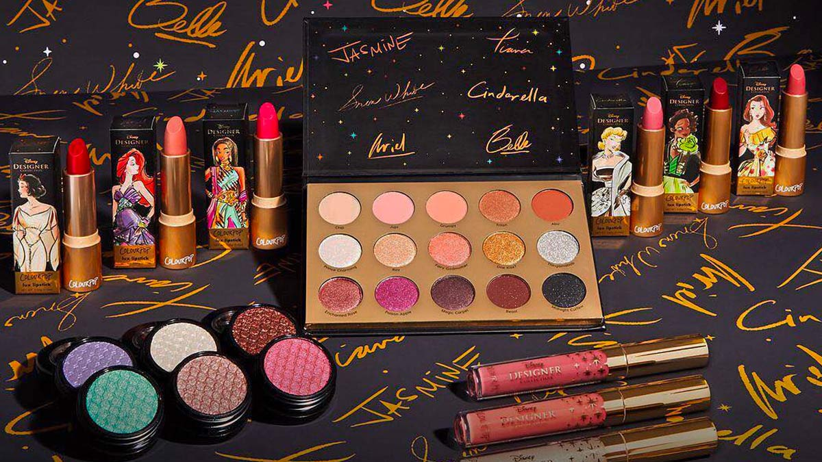 colourpop disney collection makeup news