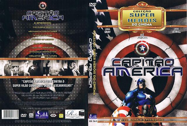 Capa DVD Coleção Super Heróis Do Cinema Capitão América Disco 1