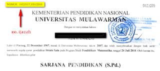 nomor ijazah universitas