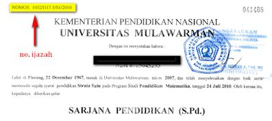 nomor ijazah sarjana diploma universitas akademi politeknik