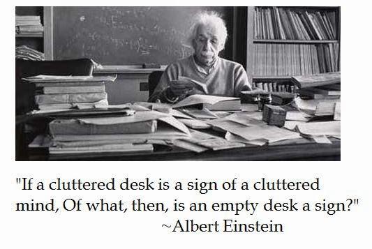 Citaten Van Albert Einstein : Dwarsbongel  zoz einstein rommelige bureaus en