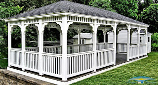 Outdoor Living Gazebo Rectangle Vinyl 12x28
