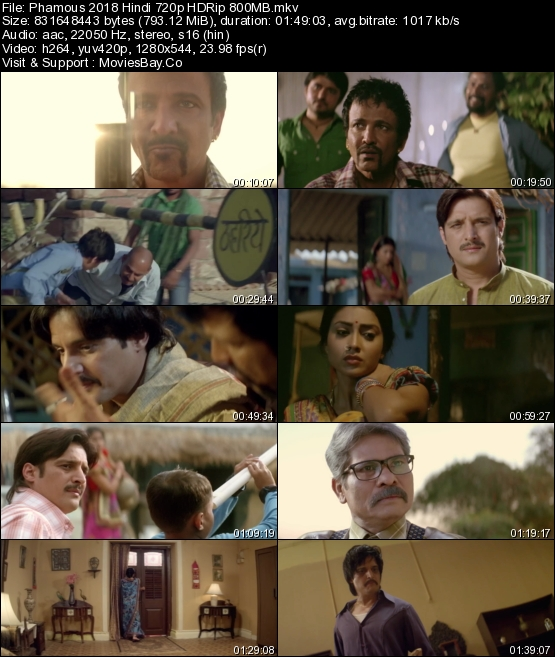Phamous 2018 Hindi 720p HDRip 800MB worldfree4u