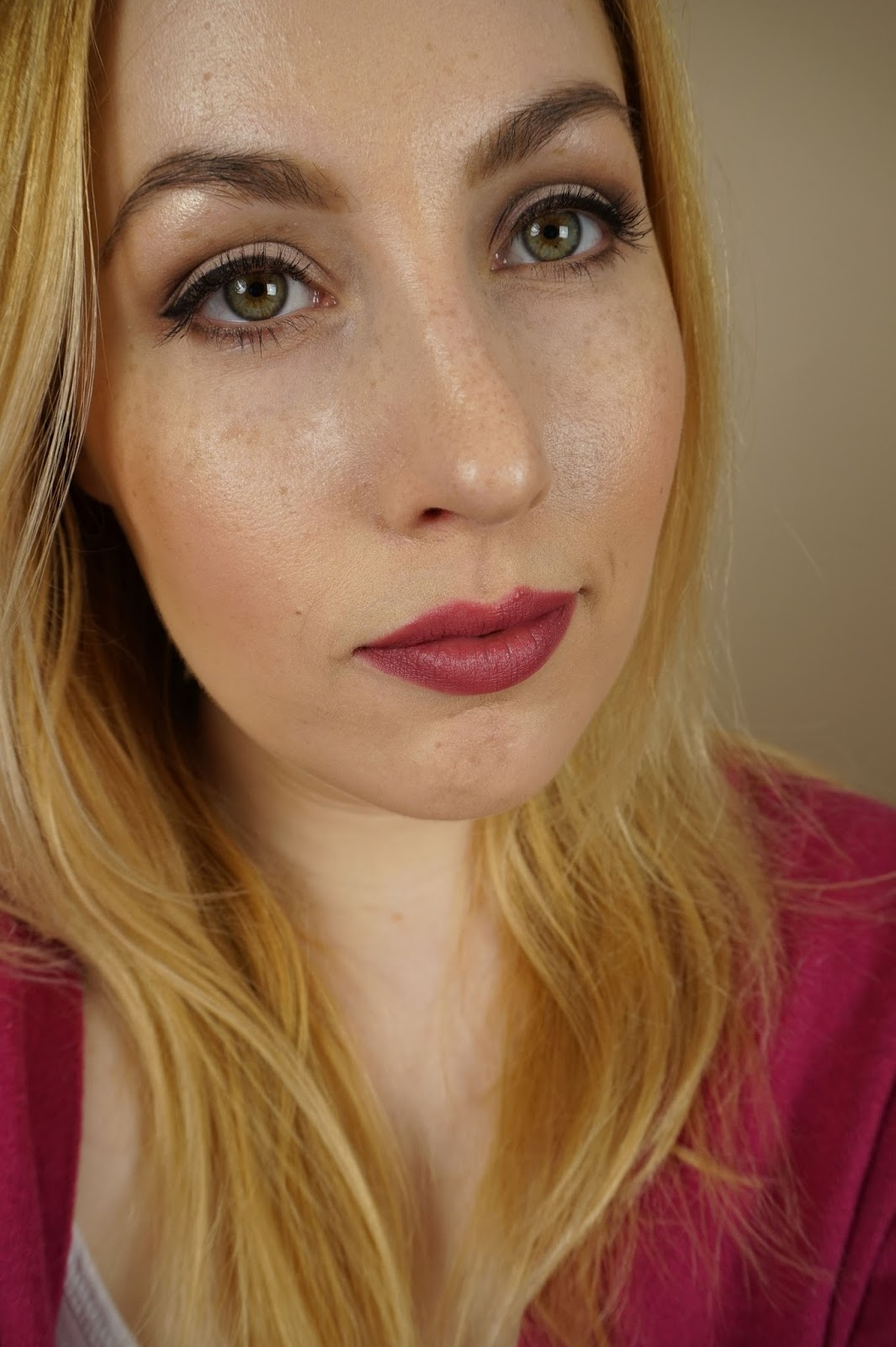 Too Faced 'Natural Eyes Palette', MAC Toledo Blush 'Kindergarten Red', and Becca Shimmer Skin Perfector Pressed 'Champagne Pop'
