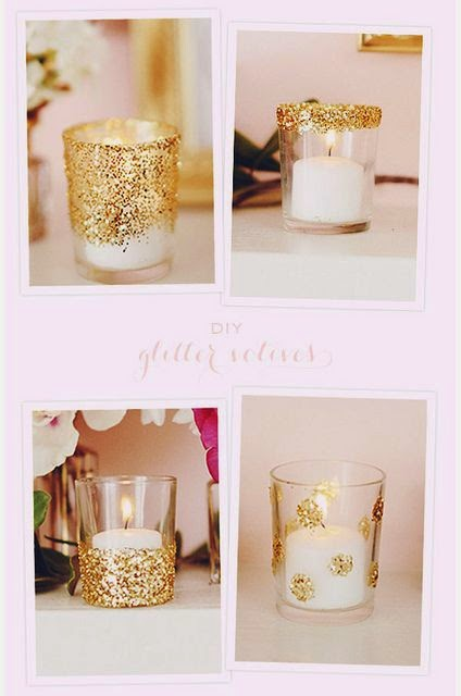Glitter Votive Candles