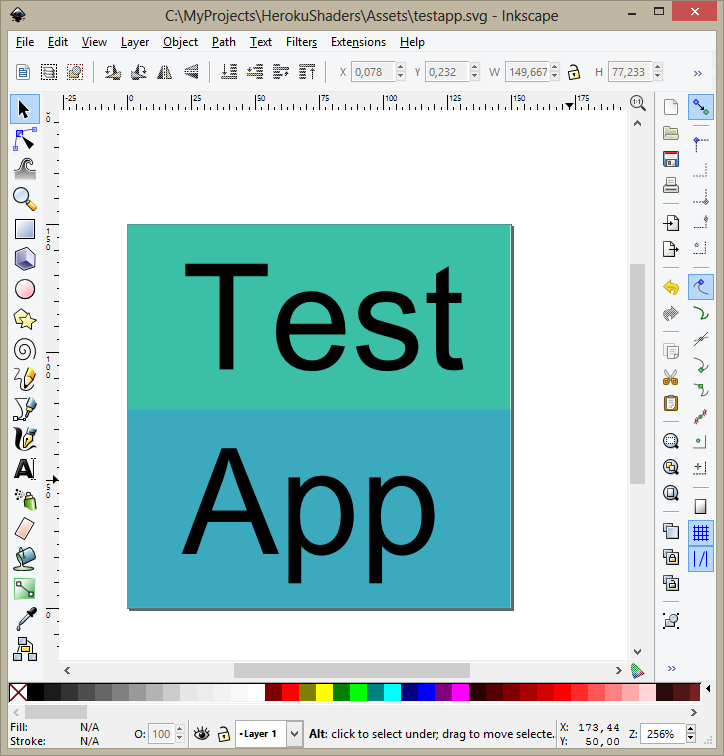 Haxe 3 Tutorials: Create SVG Icon for OpenFL app(Using Inkscape)