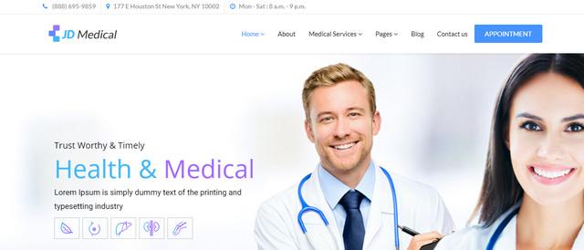 JD Medical Clean Responsive Joomla Templates
